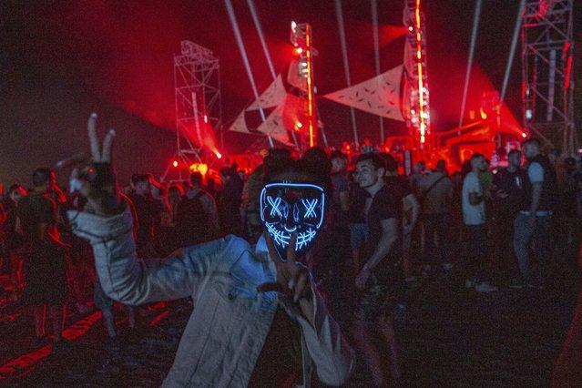 Thousands of Virus-free international fans participate at Unum Albania's open-air music festival in Shengjin on Friday, June 4, 2021. (Photo by Visar Kryeziu/AP Photo)