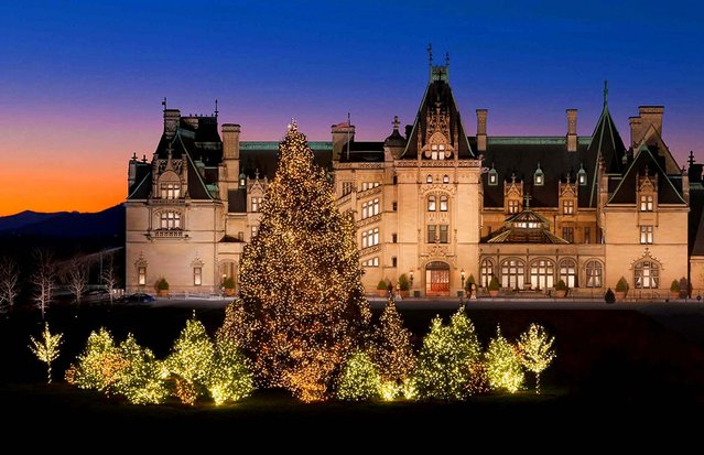 The Biltmore in Asheville, N.C., a National Historic Landmark, is decorated for Christmas. (Photo by The Biltmore Company)