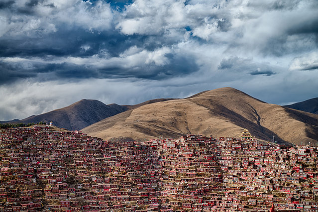 Attila Balogh, Hungary. Open Competition; Architecture. Larung Gar, home to 40,000 Buddhist monks in Sichuan province, China. (Photo by Attila Balogh/Sony World Photography Awards)