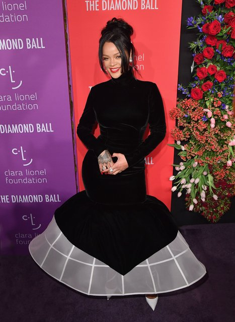 Barbadian singer/actress Rihanna arrives for Rihanna's 5th Annual Diamond Ball Benefitting The Clara Lionel Foundation at Cipriani Wall Street on September 12, 2019 in New York City. (Photo by Angela Weiss/AFP Photo)