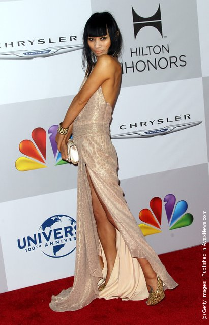 Bai Ling arrives at NBC Universal's 69th Annual Golden Globe Awards After Party
