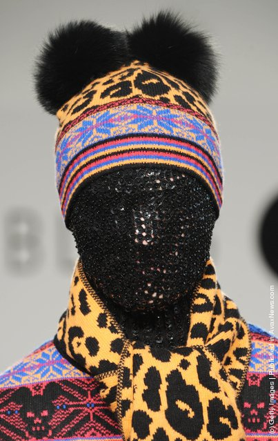 A model walks the runway during the Sister by Sibling show at London Fashion Week Autumn/Winter 2012 at Somerset House