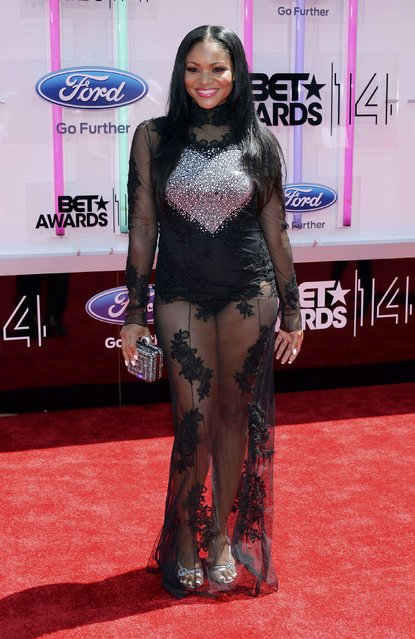 Erica Hubbard arrives at the 2014 BET Awards in Los Angeles, California June 29, 2014. (Photo by Kevork Djansezian/Reuters)