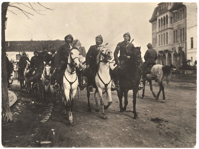 Turkish army, including cavalry, infantry and artillery. (Photo by Dr. P.A. Smithe/National World War I Museum, Kansas City, Mo.)