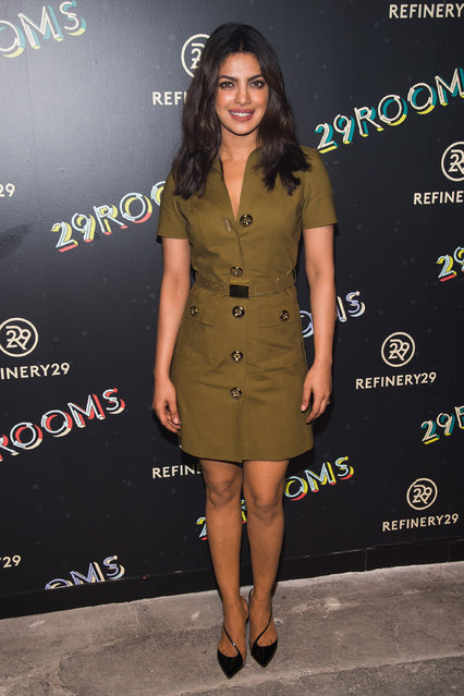 """Priyanka Chopra attends Refinery29's """"29Rooms: Powered by People"""" opening night on Thursday, September 8, 2016, in New York. (Photo by Charles Sykes/Invision/AP Photo)"""