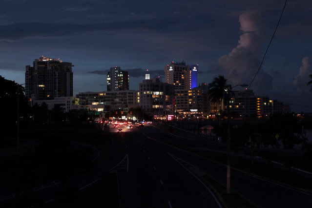 A general view of a blackout during a power outage across several areas in the country, in San Juan, Puerto Rico, September 21, 2016. (Photo by Alvin Baez/Reuters)