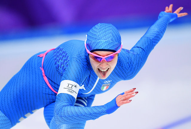 Francesca Bettrone of Italy competes during the Ladies' 500m Individual Speed Skating Final on day nine of the PyeongChang 2018 Winter Olympic Games at Gangneung Oval on February 18, 2018 in Gangneung, South Korea. (Photo by Harry How/Getty Images)