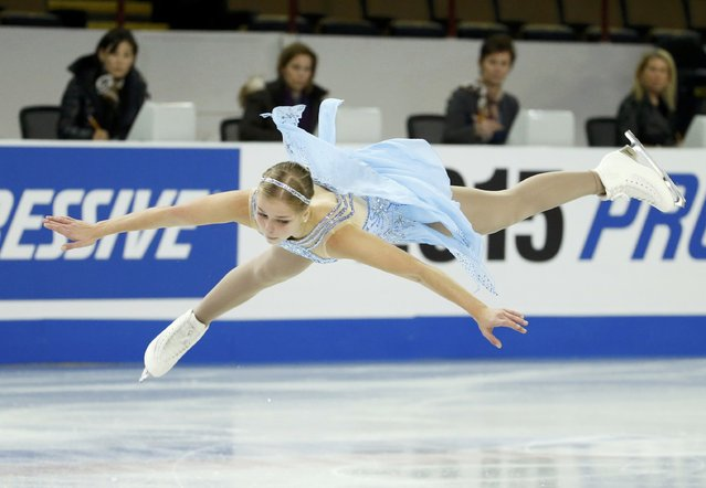 Nicole Rajicova of Slovakia performs during the Ladies' free skate program at the Skate America figure skating competition in Milwaukee, Wisconsin October 24, 2015. (Photo by Lucy Nicholson/Reuters)