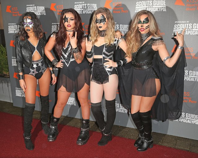 Leigh-Anne Pinnock, Jesy Nelson, Perrie Edwards and Jade Thirlwall from Little Mix attends the KISS FM Haunted House Party at SSE Arena on October 29, 2015 in London, England. (Photo by Danny E. Martindale/Getty Images)