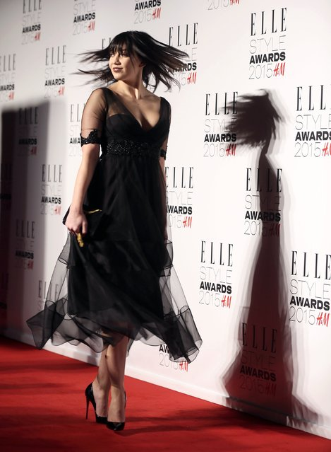 Model Daisy Lowe attends the Elle Style Awards 2015 in central London February 24, 2015. (Photo by Paul Hackett/Reuters)