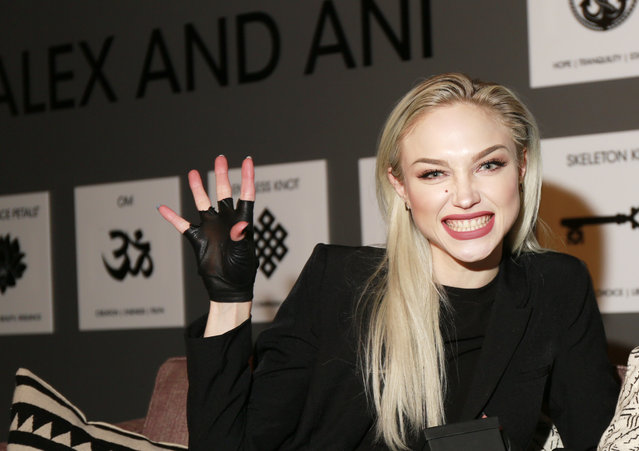Ivy Levan is seen in the Alex and Ani lounge at the Universal Music Group SXSW 2015 Experience, Friday, March 20, 2015, in Austin, Texas. (Photo by Jack Dempsey/Invision for Universal Music Group/AP Images)