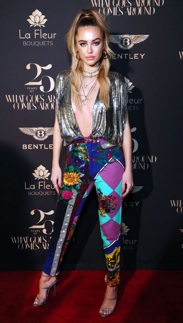 Delilah Belle attends What Goes Around Comes Around 25th Anniversary Celebration At The Versace Mansion With a Retrospective Tribute To Gianni Versace on December 08, 2018 in Miami Beach, Florida. (Photo by Astrid Stawiarz/Getty Images for What Goes Around Comes Around)