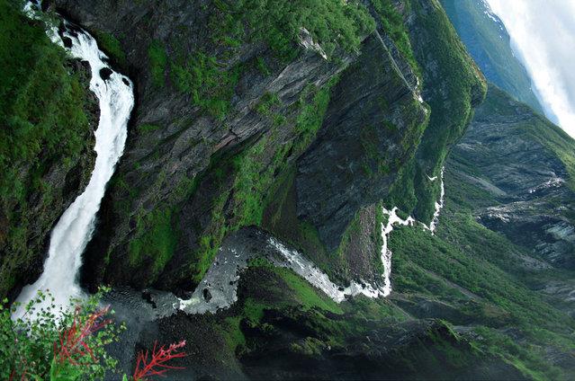Voringfossen Waterfall In Norway