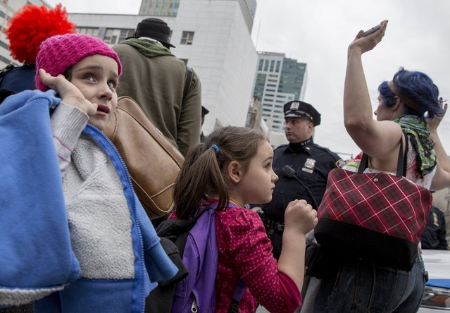 Children participate in a protest against police brutality against minorities, in New York April 14, 2015. (Photo by Brendan McDermid/Reuters)