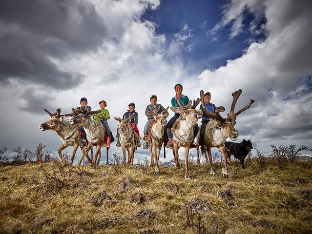 Peter Voss, Germany. Open Competition; Smile. Young reindeer farmers in Mongolia. (Photo by Peter Voss/Sony World Photography Awards)