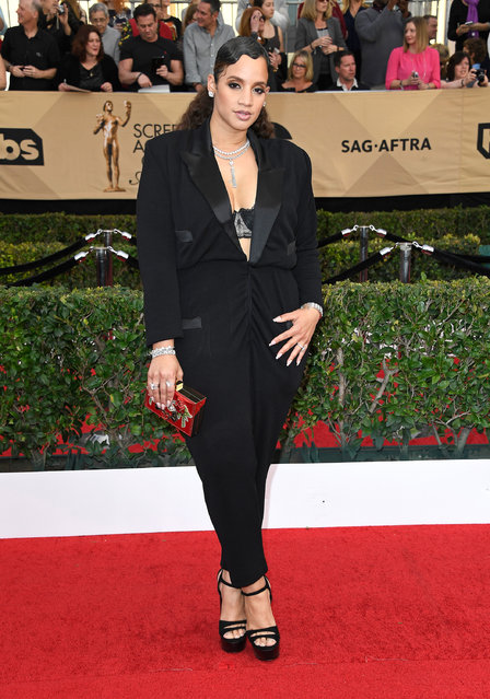 Actor Dascha Polanco attends The 23rd Annual Screen Actors Guild Awards at The Shrine Auditorium on January 29, 2017 in Los Angeles, California. (Photo by Frazer Harrison/Getty Images)