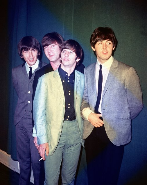 The British rock and roll group The Beatles are seen during their first U.S. tour in 1964. The band members, from left to right, are George Harrison, John Lennon, Ringo Starr and Paul McCartney. (Photo by AP Photo)
