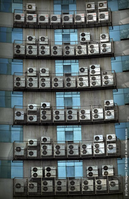 Wall Of Air Conditioners In Fuzhou