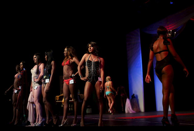Contestants take part in the Miss Gay Jozi pageant in Johannesburg, May 23, 2015. (Photo by Siphiwe Sibeko/Reuters)