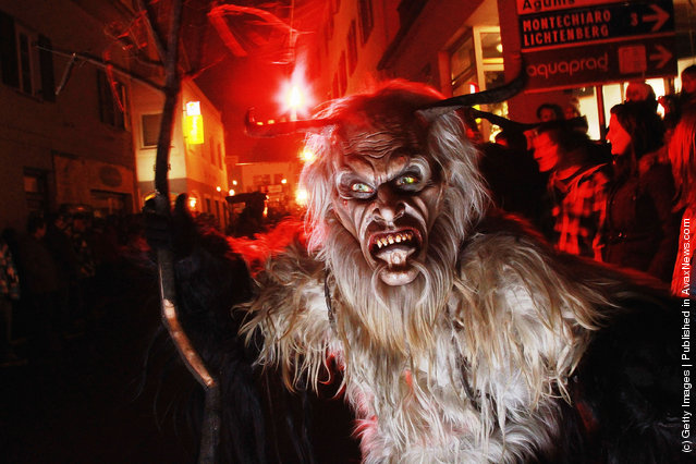 Devils Parade In Krampus Procession
