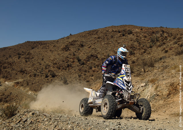 Tomas Maffei of Argentina and the Maffei Dakar Team rides his Yamaha quad on stage seven of the 2012 Dakar Rally