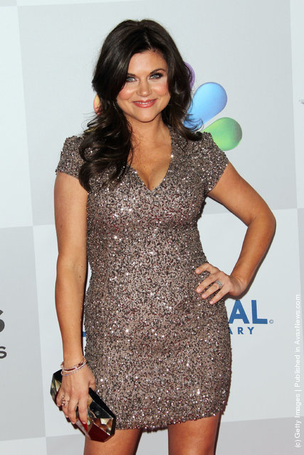 Actress Tiffani Thiessen arrives at NBC Universal's 69th Annual Golden Globe Awards After Party
