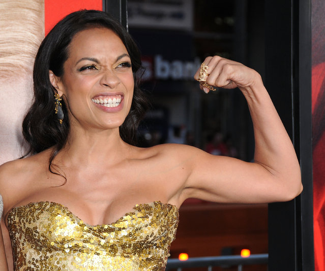 """Actress Rosario Dawson attends premiere of Warner Bros. Pictures' """"Unforgettable"""" at TCL Chinese Theatre on April 18, 2017 in Hollywood, California. (Photo by Barry King/Getty Images)"""