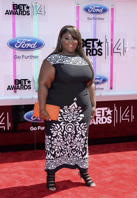 Raven Goodwin arrives at the 2014 BET Awards in Los Angeles, California June 29, 2014. (Photo by Kevork Djansezian/Reuters)