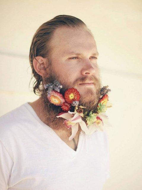 Flower beard. (Photo by brentofthefabulouswild/Tumblr)