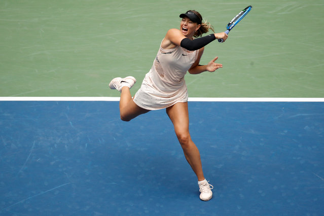 Maria Sharapova of Russia in action during her women's singles fourth round match against Anastasija Sevastova of Latvia on Day Seven of the 2017 US Open at the USTA Billie Jean King National Tennis Center on September 3, 2017 in the Flushing neighborhood of the Queens borough of New York City. (Photo by Shannon Stapleton/Reuters)