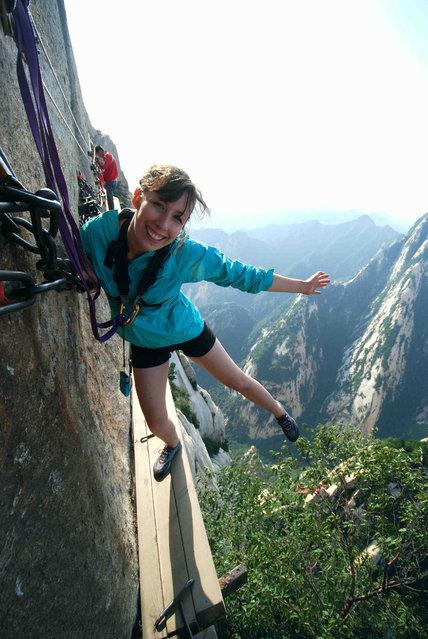 Mount Huashan, China. (Photo by Jessica)