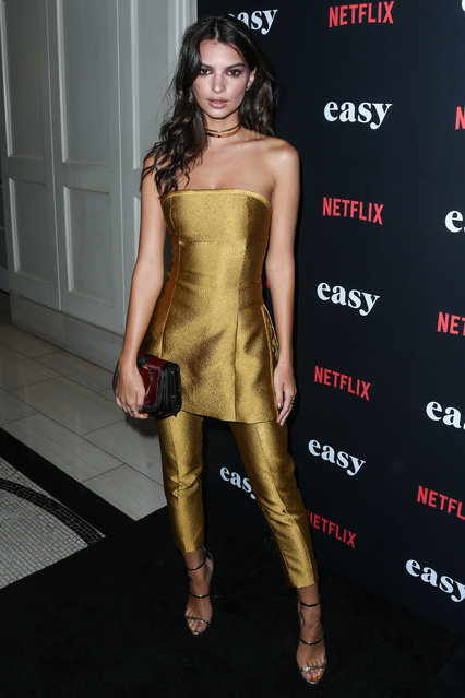 "Emily Ratajkowski during Los Angeles Premiere of Netflix's ""Easy"" held at The London Hotel on September 14, 2016 in West Hollywood, Los Angeles, California, United States. (Photo by Xavier Collin/Image Press/Splash News)"