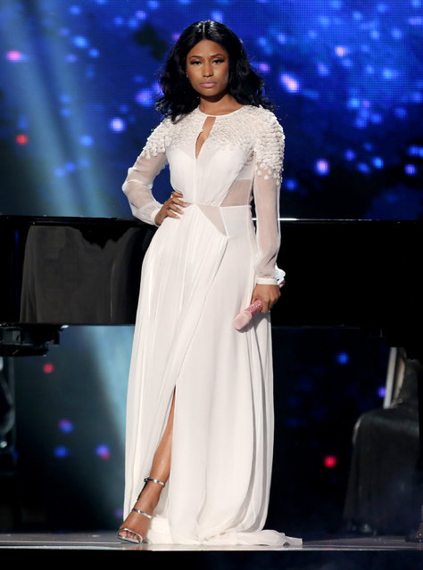 Nicki Minaj performs at the 42nd annual American Music Awards at Nokia Theatre L.A. Live on Sunday, November 23, 2014, in Los Angeles. (Photo by Matt Sayles/Invision/AP Photo)