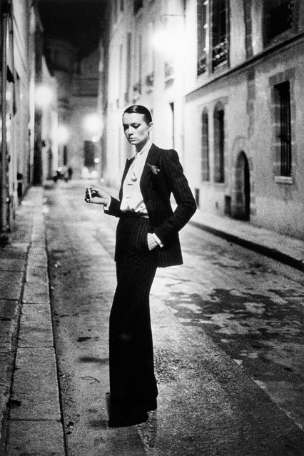 Vintage Newton, a pop-up exhibition of Helmut Newton prints from 1974-1984, opens in west London at the ONGallery. These prints, which feature Charlotte Rampling and Elsa Peretti, were produced from a series of transparencies that he considered his most provocative and important. Here: Rue Aubriot. (Photo by Helmut Newton)