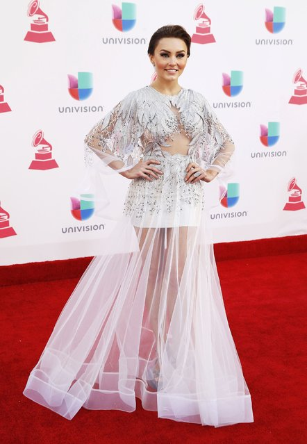 Mexican actress Angelique Boyer arrives at the 17th Annual Latin Grammy Awards in Las Vegas, Nevada, U.S., November 17, 2016. (Photo by Steve Marcus/Reuters)
