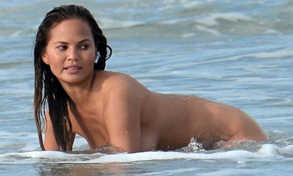 Nude Mood! Chrissy Teigen Skinny-dips in Miami