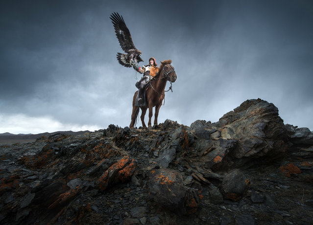 "He said: ""When we were in Western Mongolia, we were greeted as nomads andKazakh eagle hunters"". (Photo by Daniel Kordan/Caters News Agency)"
