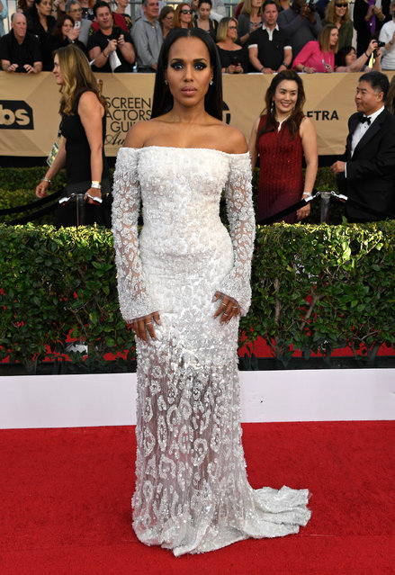 Actor Kerry Washington attends The 23rd Annual Screen Actors Guild Awards at The Shrine Auditorium on January 29, 2017 in Los Angeles, California. (Photo by Frazer Harrison/Getty Images)