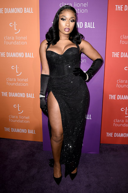 Megan Thee Stallion attends Rihanna's 5th Annual Diamond Ball at Cipriani Wall Street on September 12, 2019 in New York City. (Photo by Steven Ferdman/Getty Images)
