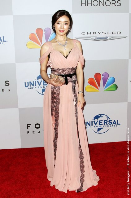 Zhao Xiang arrives at NBC Universal's 69th Annual Golden Globe Awards After Party