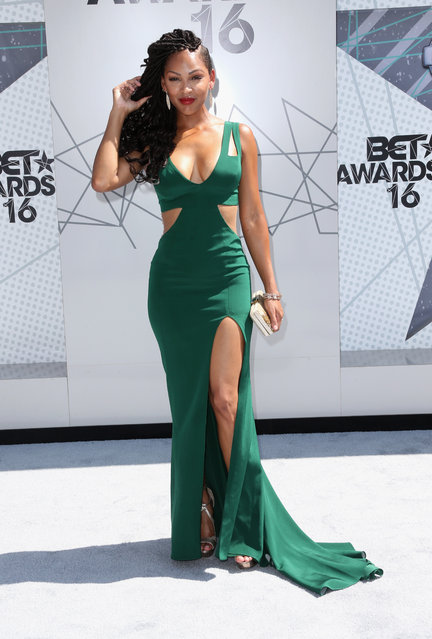 Actress Meagan Good attends the 2016 BET Awards at the Microsoft Theater on June 26, 2016 in Los Angeles, California. (Photo by Frederick M. Brown/Getty Images)