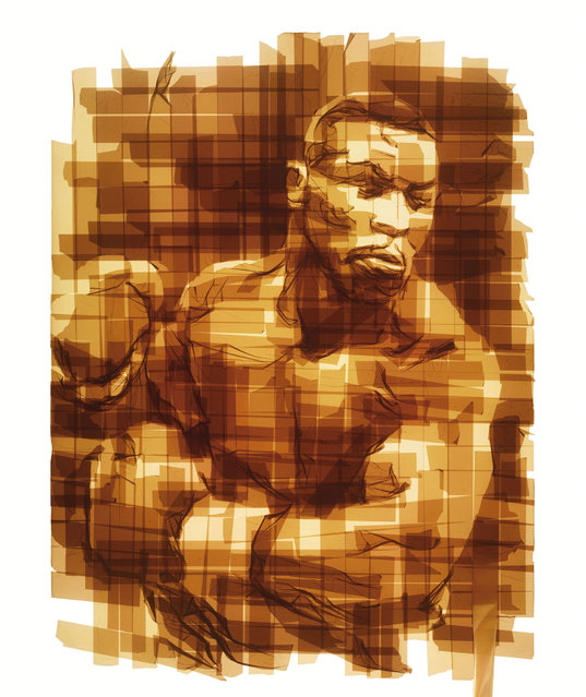 Portraits Out Of Packing Tape By Mark Khaisman