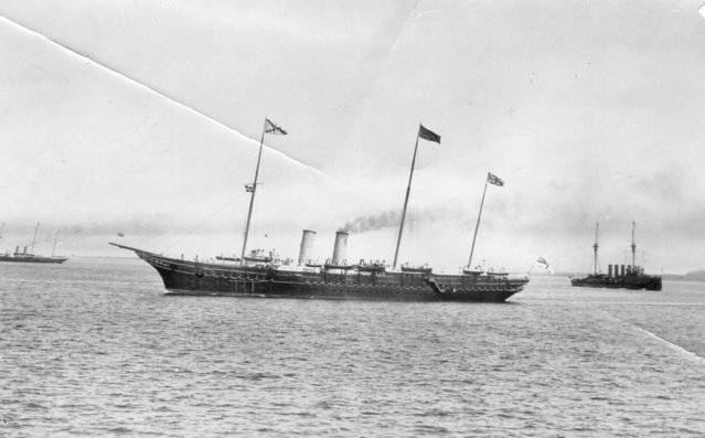 The Russian imperial yacht named Standard, on which King  Edward VII and Tsar Nicholas II  met. 10th June 1908.