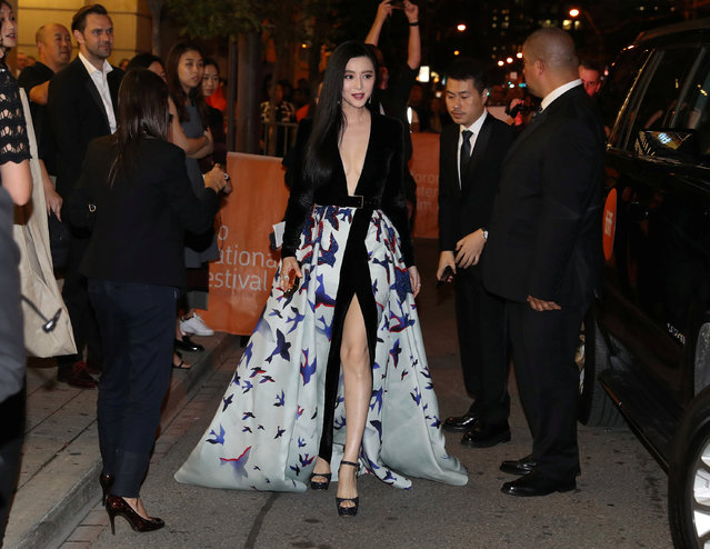 Actress Fan Bingbing attends the premiere of the film I Am Not Madame Bovary at TIFF the Toronto International Film Festival in Toronto, September 8, 2016. (Photo by Fred Thornhill/Reuters)