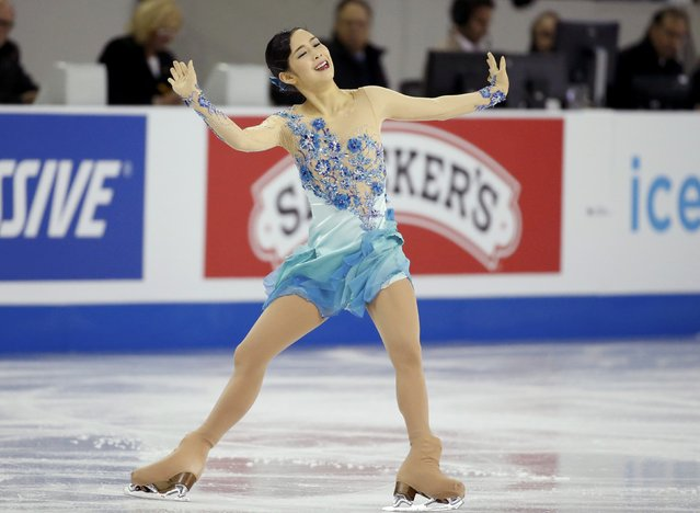 Haruka Imai of Japan performs during the ladies' free skating program at the Skate America figure skating competition in Milwaukee, Wisconsin October 24, 2015. (Photo by Lucy Nicholson/Reuters)