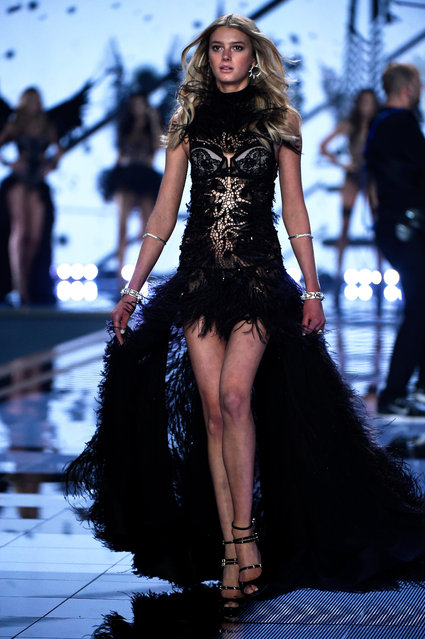 Model Sigrid Agren walks the runway at the annual Victoria's Secret fashion show at Earls Court on December 2, 2014 in London, England. (Photo by Pascal Le Segretain/Getty Images)