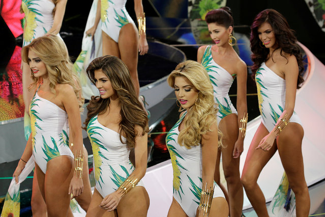 Contestants compete in the swimsuit segment of the Miss Venezuela 2016 pageant in Caracas, Venezuela October 5, 2016. (Photo by Marco Bello/Reuters)