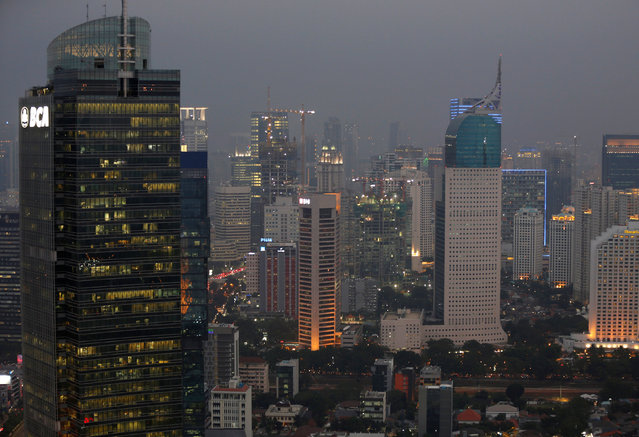 A view of the buildings in Central Jakarta, Indonesia August 2, 2016. (Photo by Darren Whiteside/Reuters)
