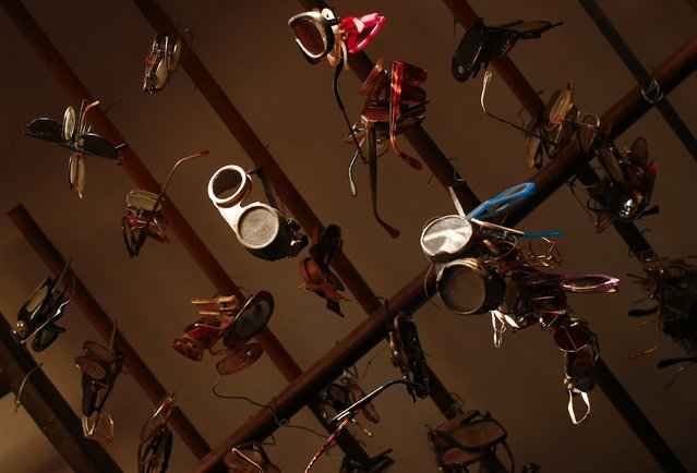 Collection of glasses is displayed in the Museum of Domenico Agostinelli in Dragona, near Rome October 30, 2014. (Photo by Tony Gentile/Reuters)