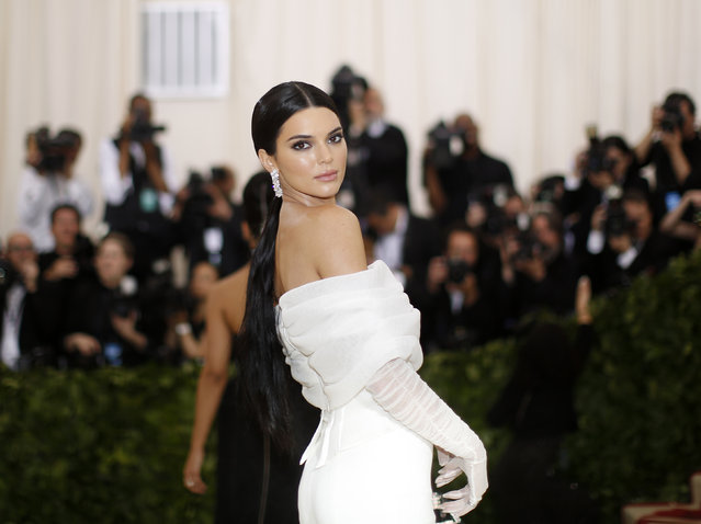 Kendall Jenner attends The Metropolitan Museum of Art's Costume Institute benefit gala celebrating the opening of the Heavenly Bodies: Fashion and the Catholic Imagination exhibition on Monday, May 7, 2018, in New York. (Photo by Eduardo Munoz/Reuters)